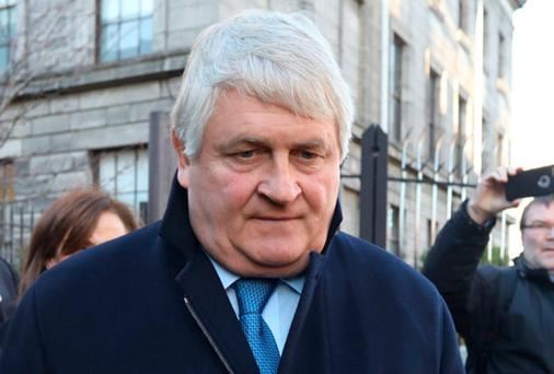 Businessman Denis O Brien pictured leaving the Four Courts after giving evidence in a High Court action. Photo: Collins Courts