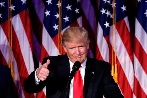 US president-elect Donald Trump: He has admitted the job is bigger than he had realised. Photo: Reuters/Mike Segar