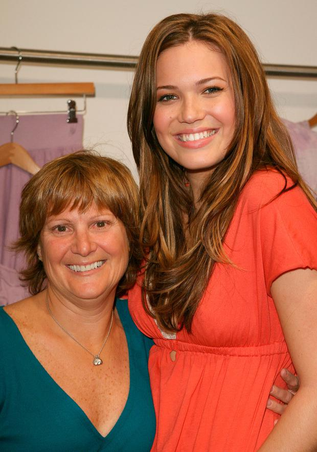 Mandy Moore and Mother at the Mandy Moore Debuts Her Clothing Line