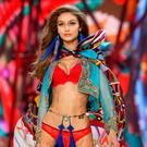 Model Gigi Hadid presents a creation during the 2016 Victoria's Secret Fashion Show at the Grand Palais in Paris, France