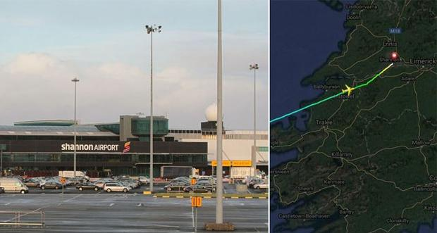 Shannon Airport (pictured left) has had two emergency landings in less than 12 hours