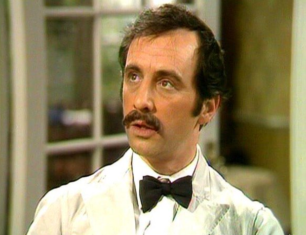 Andrew Sachs as Spanish waiter Manuel in Fawlty Towers.