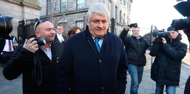 Businessman, Denis O Brien pictured leaving the Four Courts on Thursday after giving evidence in a High Court action.Pic: Collins Courts