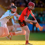 O'Loughlin Gaels' Mark Bergin (left) challenges Oulart-The Ballagh's Anthony Roche during last month's Leinster semi-final Photo: Matt Browne/Sportsfile