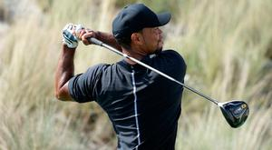 Tiger Woods in action on Thursday Photo: AP Photo/Lynne Sladky