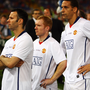 Ryan Giggs, Paul Scholes and Rio Ferdinand look dejected after Manchester United's defeat in the 2009 Champions League final. Photo: Getty Images