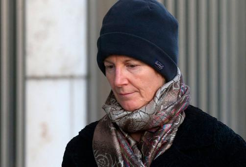 Dr Bernadette Scully leaving the Central Criminal Court. Pic Collins Courts.