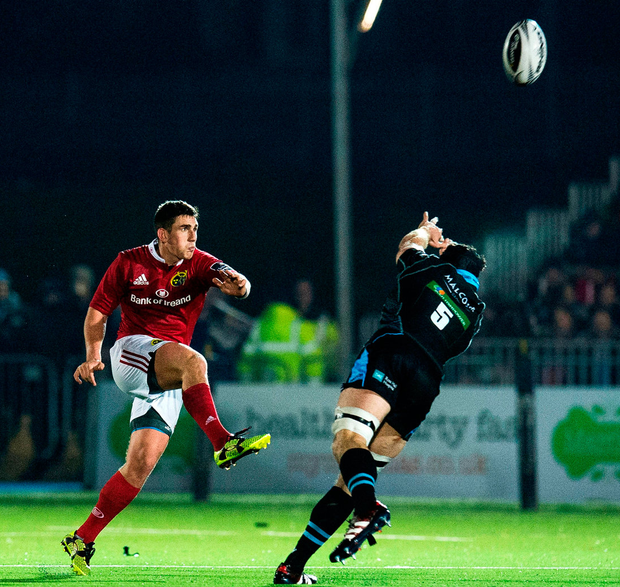 Munster's Ian Keatly kicks a successful drop goal Photo: Paul Devlin/Sportsfile