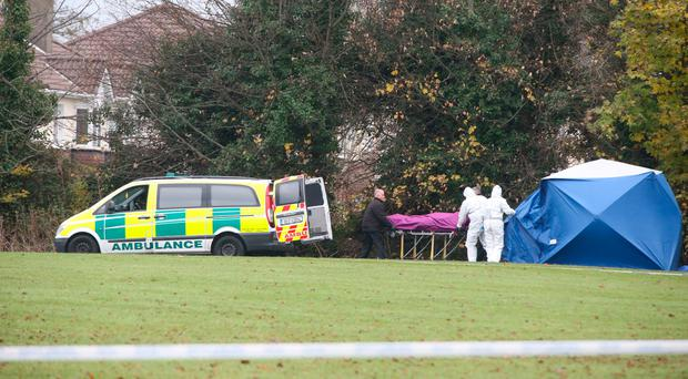 Body is taken from the scene of shooting in Lucan. Photo: Dave Conachy