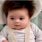 Meet Alexandra: The baby with amazing hair CREDIT: REDDIT /