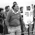 Christy O'Connor competing in the Irish Open of 1981