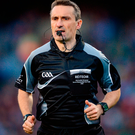 Referee Maurice Deegan. Photo: Piaras Ó Mídheach/Sportsfile