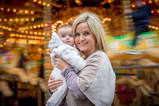 Fair old time: Siobhan O'Connor with her four-month-old daughter Erin at Waterford Winterval. Photo: Dylan Vaughan