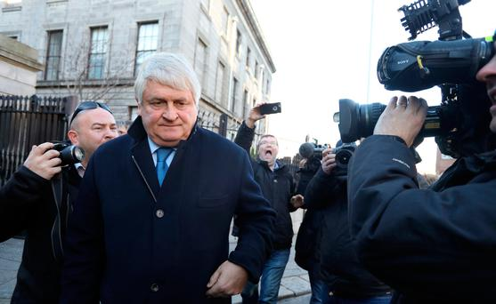 Businessman Denis O'Brien leaving the Four Courts after giving evidence last week Photo: Collins Courts