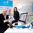 Sean Gallagher with Ciara Clancy from Beats Medical Photo: David Conachy