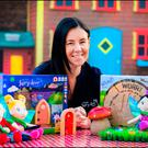Niamh Sherwin-Barry of the Irish Fairy Door company with a range of their products Photo: David Conachy