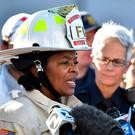 Oakland Fire Chief Teresa Deloach Reed speaks to members of the media after a deadly fire tore through a warehouse during a late-night electronic music party in Oakland, Calif., Saturday, Dec. 3, 2016. (AP Photo/Josh Edelson)
