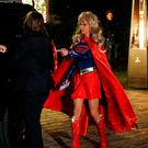 Kellyanne Conway, campaign manager and senior advisor to the Trump Presidential Transition Team, wears a costume as she arrives at the home of hedge fund billionaire and campaign donor Robert Mercer in Head of the Harbor, New York, U.S., December 3, 2016. REUTERS/Mark Kauzlarich