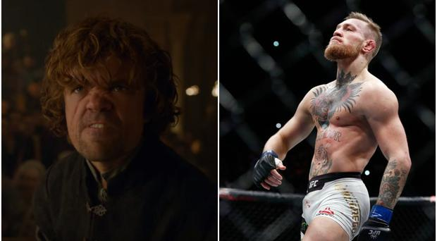 Tyrion Lannister of Game of Thrones (left) and Conor McGregor (right)