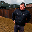 Gordon Elliott in his yard at Longwood Co Meath. Photo: Ramsey Cardy/Sportsfile