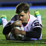 Ulster's Louis Ludik scores a try during the match against Cardiff Blues in Cardiff. Photo: Chris Fairweather/Sportsfile