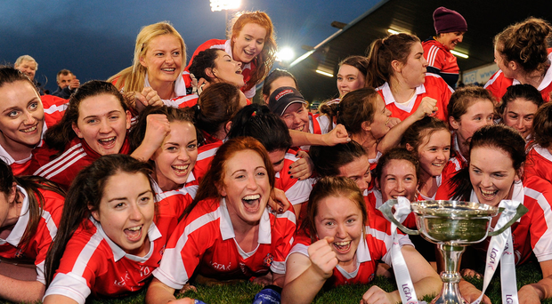 Donaghmoyne players celebrate their All-Ireland club final victory. Photo: Sam Barnes/Sportsfile