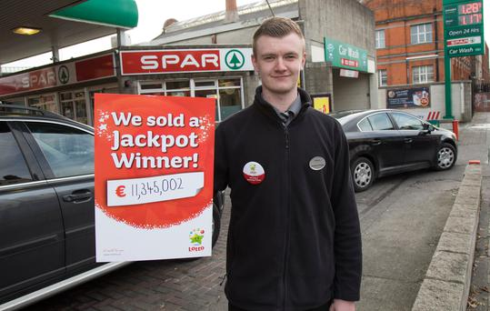 Craig Madden, assistant manager of Spar at the Top service filling station on Amiens Street Picture: Fergal Phillips