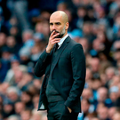 'Guardiola has two centre-backs with a combined transfer fee of £80m, but neither know what to do when a centre-forward like Diego Costa starts to bully them' Photo: PA