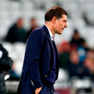 Slaven Bilic can only look on as Arsenal tear West Ham apart. Photo: PA