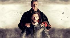 Dustin Hoffman and Richard Madden in Medici: Masters of Florence on Netflix