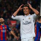 Real Madrid's Cristiano Ronaldo reacts after missing a chance