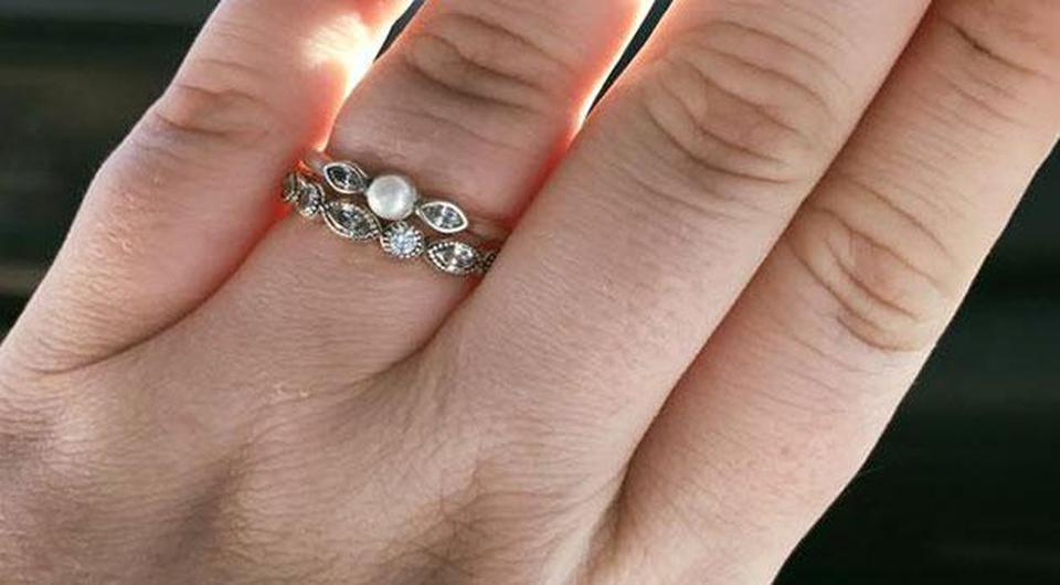 Ariel McRae shared this picture of her wedding ring on Facebook