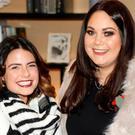 Lauren Arthurs and Grace Mongey at the official launch of Christmas at Kildare Village. Picture: Kieran Harnett