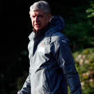 Wenger: Watching events in Paris Photo: ADRIAN DENNIS/AFP/Getty Images