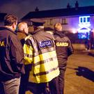 Gardai investigate the shooting of a man in Mulhuddart, Dublin. Picture: Arthur Carron