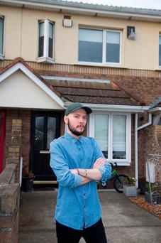 Young father Luciano Forte at his rented home in St Brigid's Grove, Artane, Dublin. Photo: Colin O'Riordan