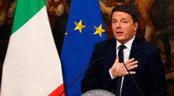 Italian Prime Minister Matteo Renzi speaks during a media conference after a referendum on constitutional reform in Rome Picture: REUTERS/Alessandro Bianchi