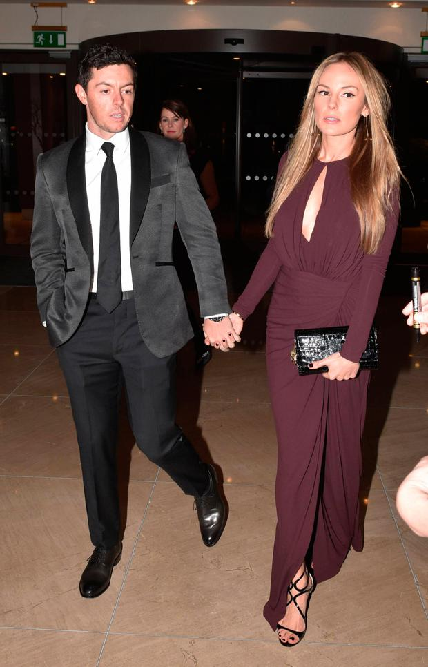 Rory McIlroy and Erica Stoll at the Irish Youth Foundation Excellence in Sports Awards 2016. Picture: Cathal Burke / VIPIRELAND.COM