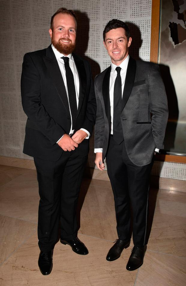 Shane Lowry and Rory McIlroy at the Irish Youth Foundation Excellence in Sports Awards 2016. Picture: Cathal Burke / VIPIRELAND.COM