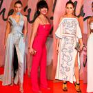 (L to R) Gigi Hadid, Daisy Lowe, Olivia Palermo, Jourdan Dunn and Lara Stone at the British Fashion Awards 2016