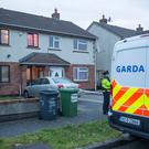 The scene of the shooting at Parslickstown Green, Mulhuddart, this morning.