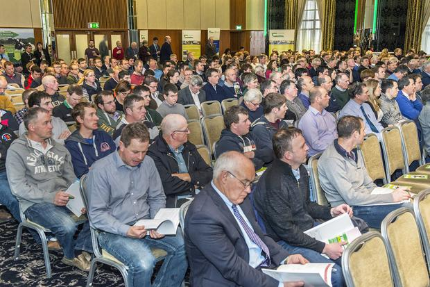 Pictured are a section of the attendance at the Teagasc National Dairy Conference on 'Technologies for Success' in Rochestown, Cork. Photo O'Gorman Photography.