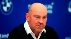 Thomas Bjorn will captain Europe in the 2018 Ryder Cup in France. John Walton/PA Wire.