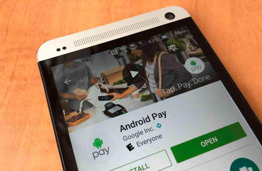 Swipe your mobile phone against a contactless terminal to pay for items