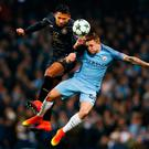Celtic's Emilio Izaguirre in action with Manchester City's Pablo Maffeo. Photo: Reuters