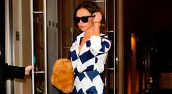 Victoria Beckham is seen walking in Soho on December 5, 2016 in New York City (Photo by Raymond Hall/GC Images)