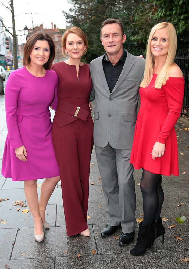 Colette Fitzpatrick, Cathy Belton, Paul Roe and Karen Koster when TV3 launched its new-look three channel group strategy at a special event at The Cliff Townhouse on St. Stephens Green. Picture: Brian McEvoy
