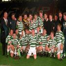 Jim McCafferty - back row, far left - pictured with the Celtic youth team 1994-1995