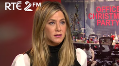 Jennifer Aniston during an interview with Eoghan McDermott