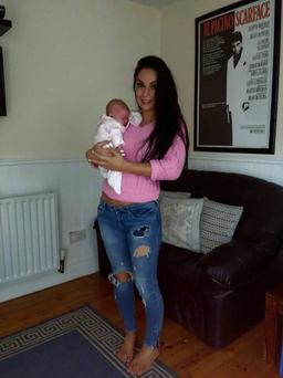 Suzanne pictured with her daughter Frankie (5 months)